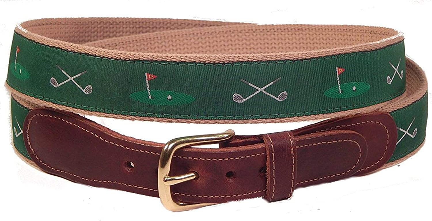 Preston Leather Men's Ribbon Belt tabs with New product!! bu Max 55% OFF brass and