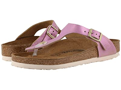 Birkenstock Gizeh Leather (Washed Metallic Pink) Women