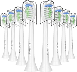 Sonifresh Replacement brush heads,DiamondClean Sonic Replacement Heads Compatible with Philips Sonicare Electric Toothbrush HX6250 HX6730,8 Pack