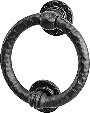 Mythrojan Large Cast Iron Ring Front Door Knocker Artisan Made Antique Knocker