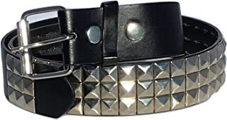 Black Studded Belt- 1 1/2