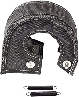 JCP Mesh Lined Titanium Turbo Blanket Heat Shield With Stainless Steel Ties Black, T-25