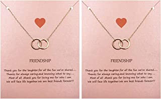 Best two circle necklace Reviews