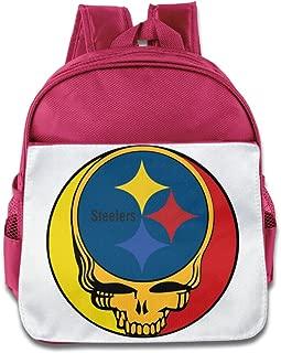 HYRONE Pittsburgh Skull Steelers Teenager Shoulders Bag For 1-6 Years Old RoyalBlue