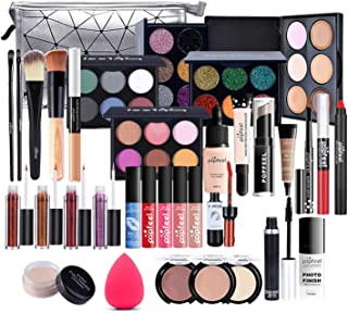 Professional Makeup Set,MKNZOME Cosmetic Make Up Starter Kit With Storage Bag Portable Travel Make Up Palette Birthday Xma...
