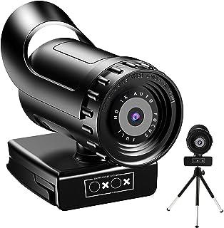 らくらく WEBカメラ ウェブカメラ HD1080P 200万画素 95°画角 パソコンカメラ ワイドサイズ対応 内蔵マイク skype会議用PCカメラ Windows 10/8 / 7 Mac OS X, Youtube, Skype