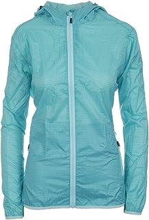 Pignolo P Chaqueta Impermeable para Mujer, Transpirable y Resistente al Agua con Capucha Chaqueta Exterior Delgada y fácil...