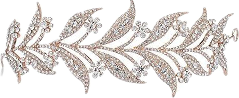 wiipujewelry Wiipu Leaves Rhinestone Crystal Wedding Headband Bridal Tiara Crown(N433)