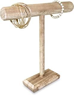 Ikee Design Antique Wooden Handmade Jewelry Display Stand - Oak