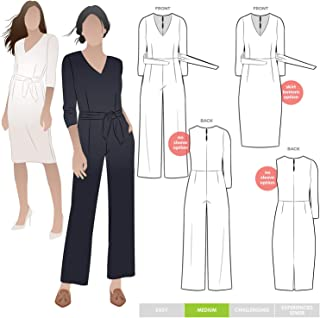 Style Arc Sewing Pattern - Brice Knit Jumpsuit (Sizes 04-16) - Click for Other Sizes Available