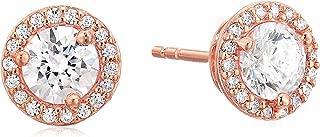 Michael Kors Women's Precious Metal-Plated Sterling Silver Pav¿ Logo Studs Earrings
