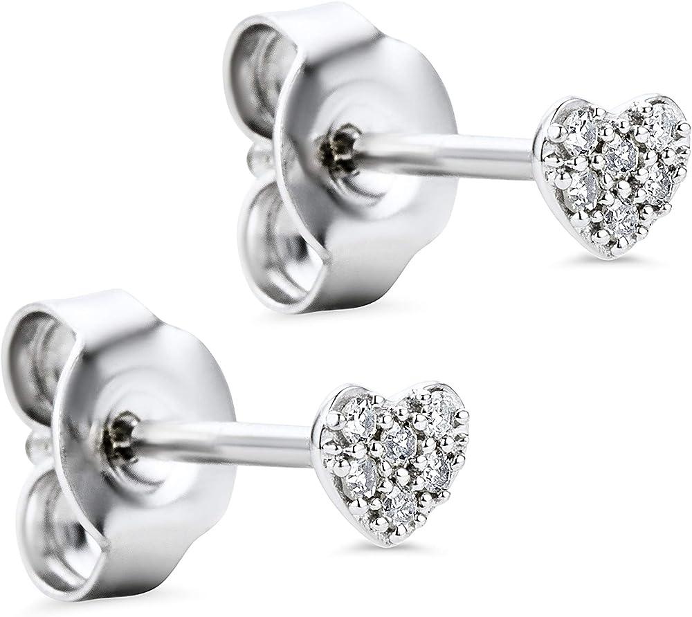 Orovi orecchini per donna in oro 18 kt /750(gr 0,76)e con  diamanti taglio brillante ct 0.058 OR81126E