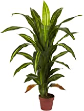 Nearly Natural 6650 Dracaena Decorative Silk Plant, 4-Feet, Green