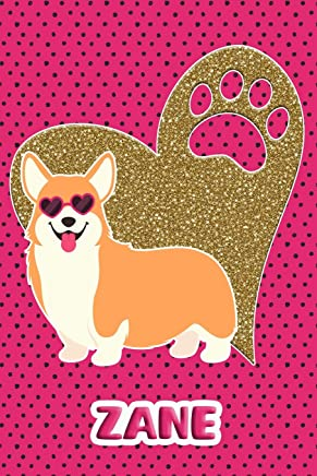 Corgi Life Zane: College Ruled | Composition Book | Diary | Lined Journal | Pink