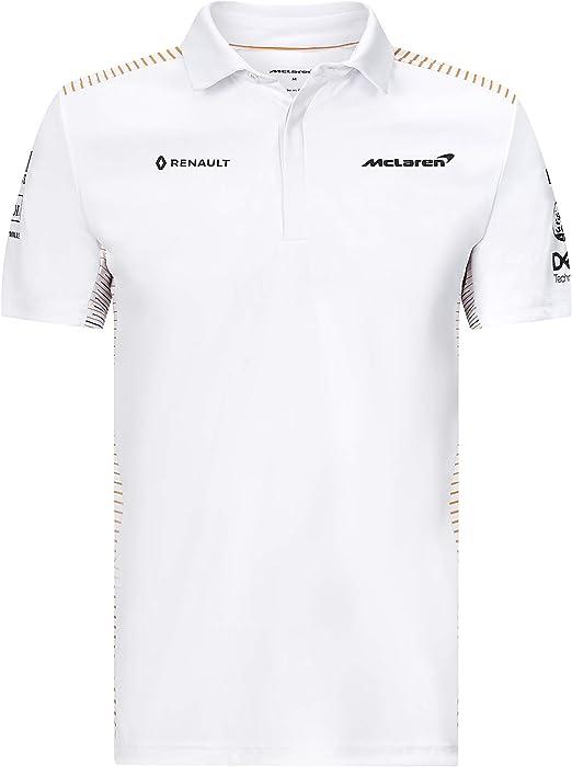 McLaren Official Formula 1 - Colección Merchandise 2020 - Polo del Equipo - Blanco - Hombre - Talla M