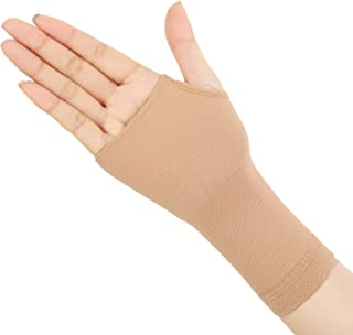 Spotbrace Medical Wrist Hand Support, Elastic Thin Palm Brace, Pain Relief Compression Sleeve for Unisex Wrist Swelling, Soreness, Loosing and Sprained- Fit Both Hands