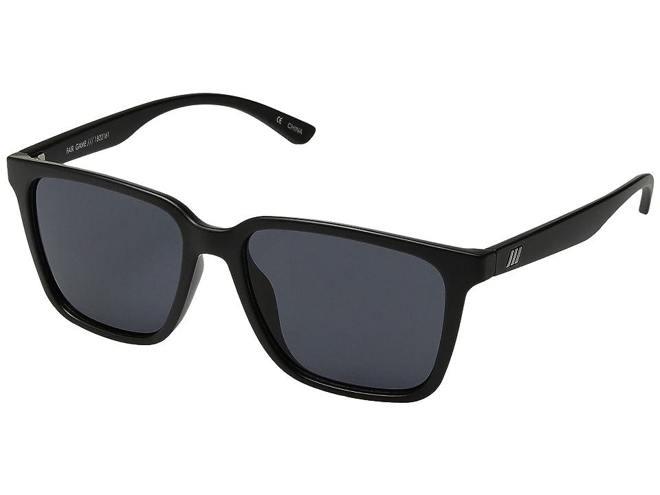Le Specs Fair Game (Matte Black/Smoke Mono) Fashion Sunglasses