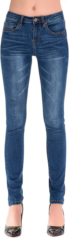 HONTOUTE Women's Classic High Waisted Butt Lift 4Ways Stretch Modern Skinny Jeans
