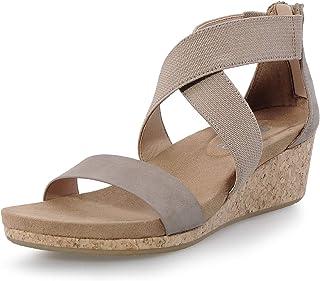 Women's Wedge Heel Sandal with Ankle Strap Platform Wedge Sandals