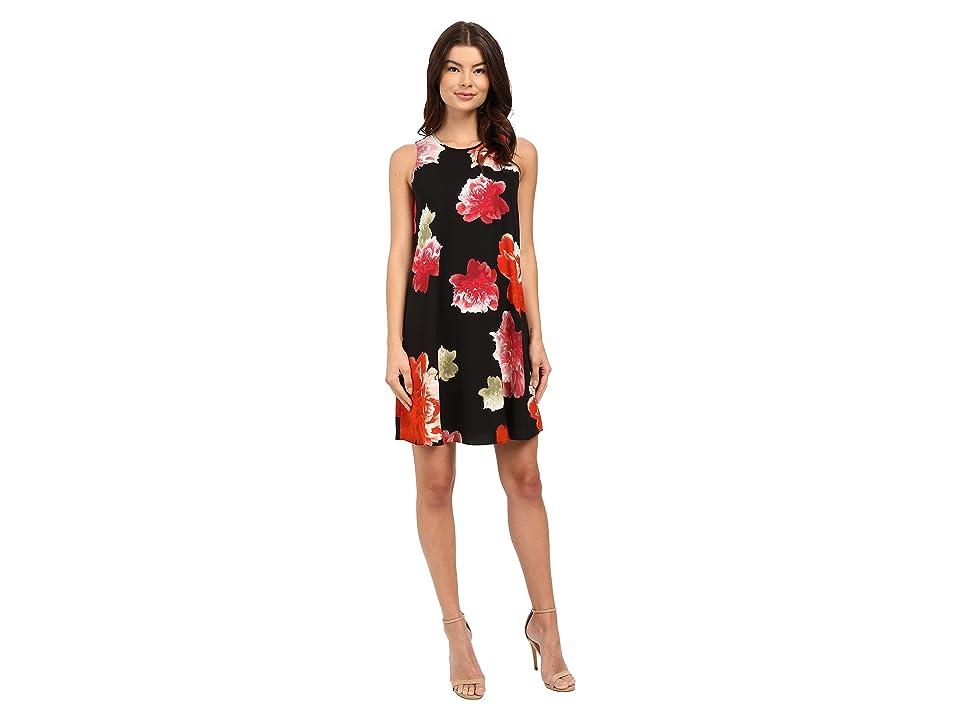 Calvin Klein Chiffon Floral Dress CD6EVC2R (Black Multi) Women