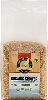 Scratch and Peck Feeds Naturally Free Organic Grower Feed for Chickens and Ducks - 10-lbs - Non-GMO Project Verified, Soy ...