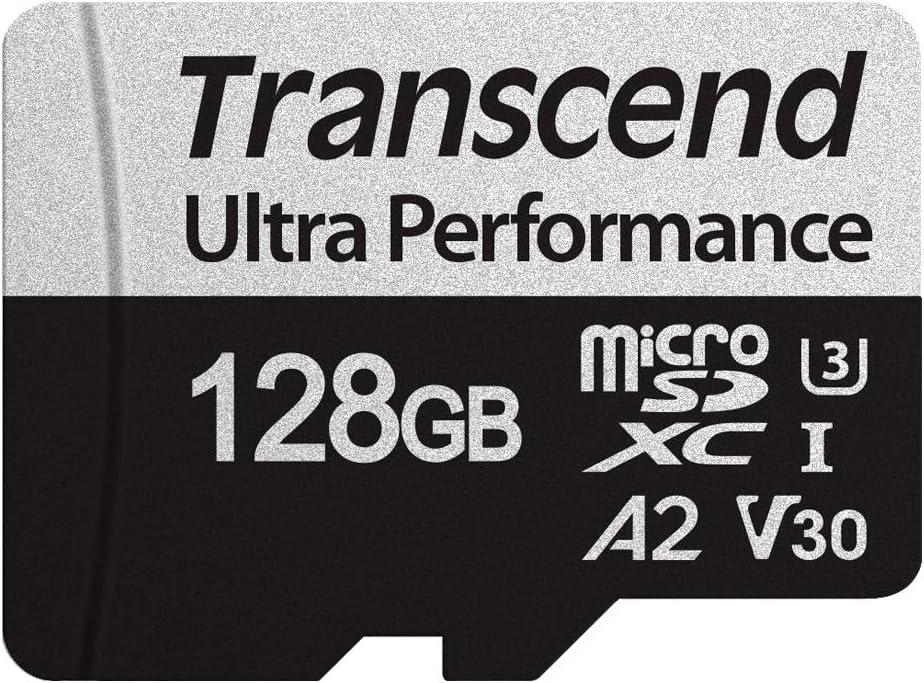 Transcend 128GB microSDXC 340S High Performance Memory Card UHS- I, U3, V30, A2, 4K, Full HD - TS128GUSD340S