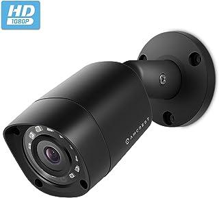 Amcrest Full HD 1080P 1920TVL Bullet Outdoor Security Camera (Quadbrid 4in1 HD-CVI/TVI/AHD/Analog), 2MP 1920x1080, 98ft Night Vision, Metal Housing, 3.6mm Lens 90� Viewing Angle, Black (AMC1081BC36-B)