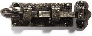 Casa Hardware Cast Iron Detailed Slide Bolt Interior Exterior Door Latch - Antique Pewter