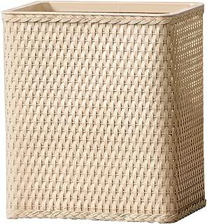 LaMont Home Carter Collection - Rectangular Wastebasket, Linen