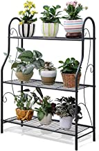 ZXHDND Flower Stand 3-layer Flower Stand Metal Plant Stand Indoor/Outdoor/Garden/Balcony/Living Room Ladder Plant Flower P...