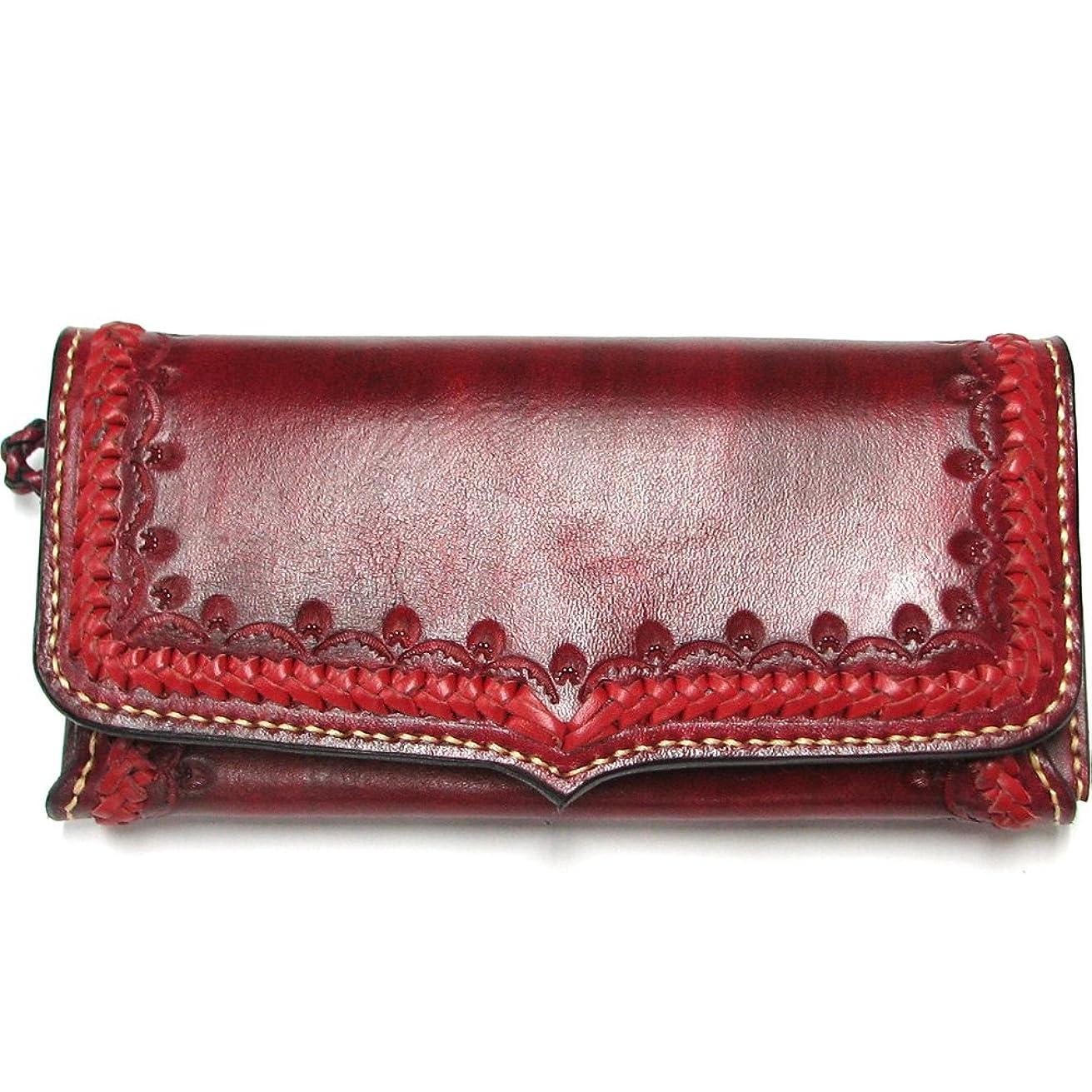 キャラバン同一性家具大容量ハンドメイドロングウォレットメッシュ仕様長財布