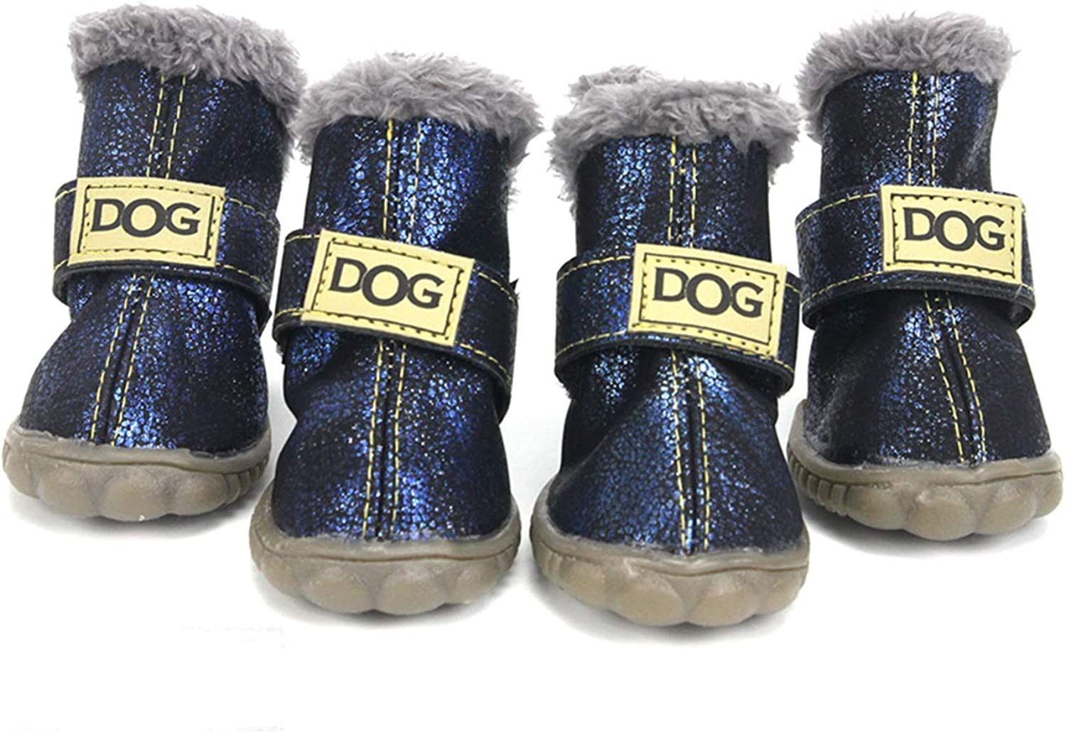 AOBRITON Winter Pet Dog shoes Waterproof 5Pcs Set Small Big Dog's Boots Cotton Non Slip for Pet Product
