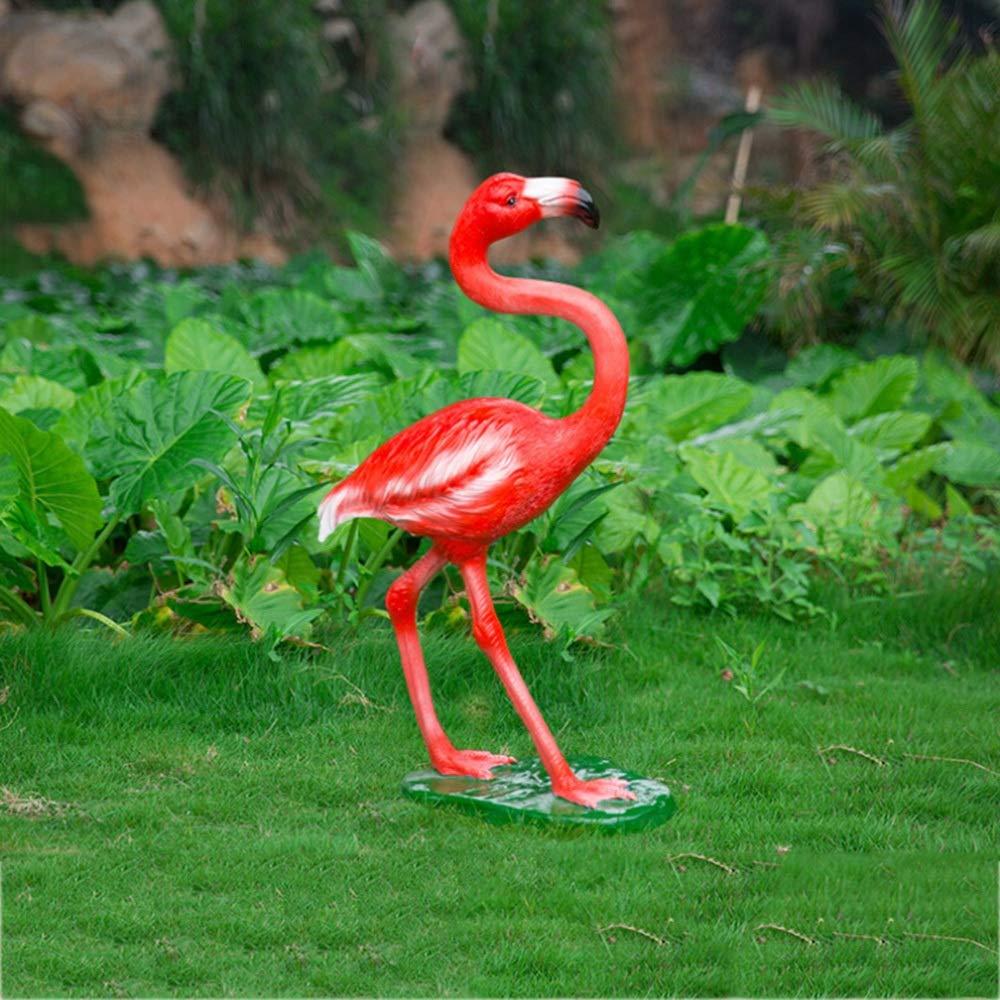 Maceta de Flores Escultura del Flamenco de pie del jardín del Arte artesanía de Cristal de