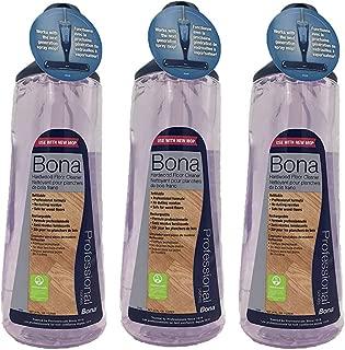 Bona Pro 33 Oz Hardwood Floor Cleaner Refill Cartridge, Premium No-Residue Formula, Ready-to-Use Cartridge For Bona Hardwood Floor Spray Mop, Cleans Dirty, Smudged Wood Floors (Pack of 3)