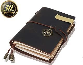 Sueroom-手作り手帳パスポートサイズのトラベラーズノート品質は非常にいいですね 日記帳 本革 トレロ感----ベーシックで高級感があり長年楽しんでいただけます(アンティークグレー)