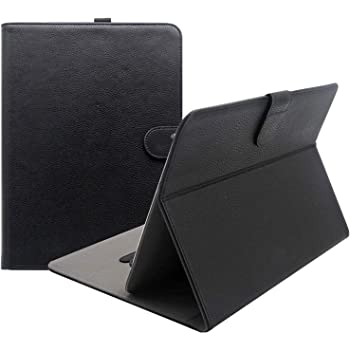 """ProCase Universal Folio Case for 9-10 inch Tablet, Leather Stand Protective Case Cover for 9"""" 10.1"""" Touchscreen Tablet with Multi-Angle Stand (Black)"""