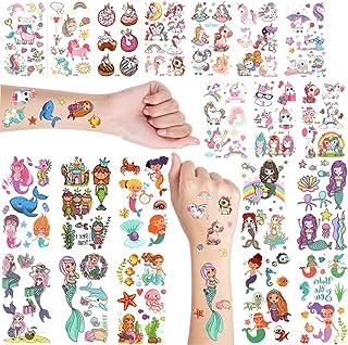 EH.DT Mermaid & Unicorn Temporary Tattoo For Girls|Temporary Tattoo For Kid|Fake Tattoo For Kids|Unicorn Tattoo Sticker Fo...