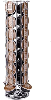 Mind Reader Dolce Gusto Coffee Pod Storage Rack, Carousel Holds 24 Coffee Pods, Silver