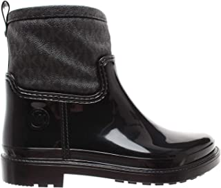 MICHAEL by Michael Kors Blakely Black Rubber Logo Rain Boot