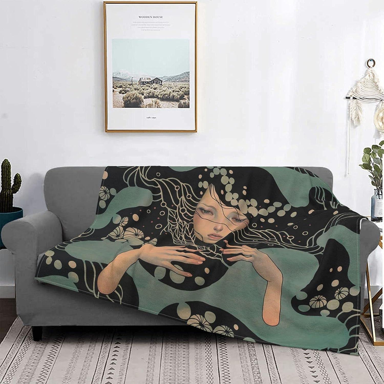 超人気 専門店 Audrey Kawasaki 新作 Ultra-Soft Flannel Bedding Throw Blankets C Fits