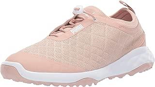 PUMA 女士 Brea Fusion 运动高尔夫鞋 Cameo Rose/White 7