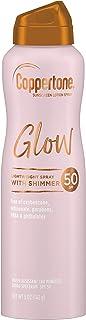 Coppertone Glow Shimmering Sunscreen Spray SPF 50, 5 ounces