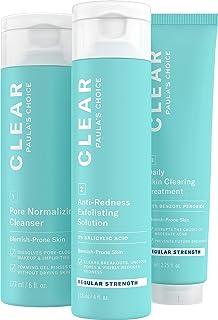 Paula's Choice CLEAR Regular Strength Acne Kit | 2% Salicylic Acid & 2.5% Benzoyl Peroxide for Facial Acne & Pores | Redne...