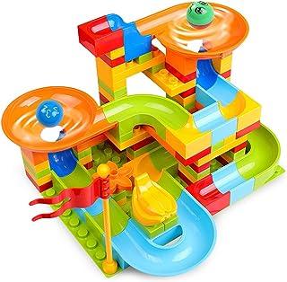 Building Blocks Assembling Toys for Boys And Children 2-3-6 Years Old Baby Ball Slide Building Blocks Track Assembling Edu...