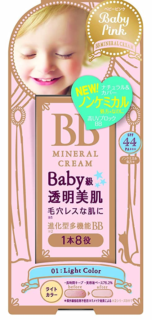 頑固なターミナルわずらわしいベビーピンク BBクリーム 01:ライトカラー 20g