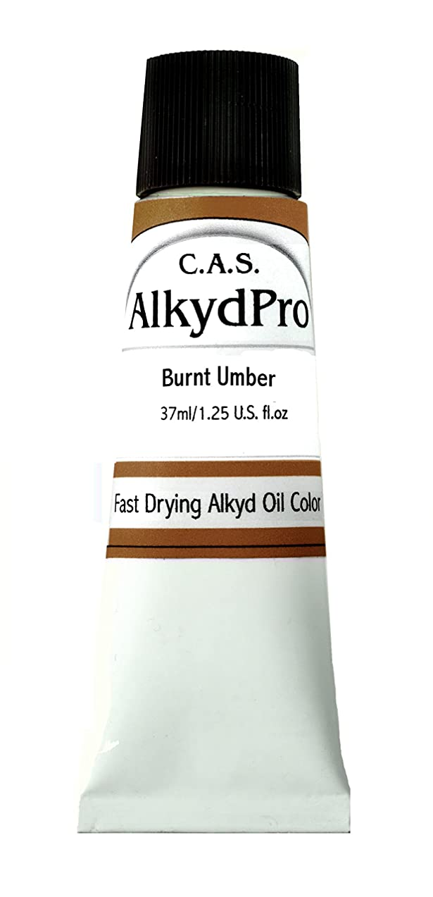 C.A.S. Paints AlkydPro Fast-Drying Oil Color Paint Tube, 37ml, Burnt Umber