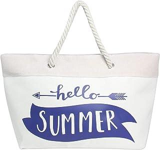 Auliné Collection Womens Fashion Casual Travel Beach Shoulder Tote Bag Handbag