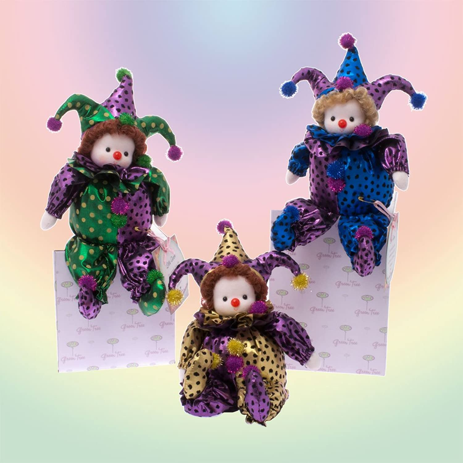 GrünTree Musical Clown Set Wind-Up Dolls (Set of 3)