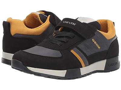 Geox Kids Jr Alfier 7 (Big Kid) (Black/Yellow) Boys Shoes