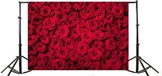 Yeele 10x8ft Wedding Red Rose Floral Photo Background Vinyl Flower Petals Romantic Sweet Bridal Party Style Photography Backdrops Girl Adult Lovers Portrait Activity Photo Studio Props Wallpaper